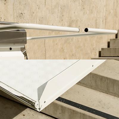 Sicherheitseinrichtungen für Plattformtreppenlifte Ganser Liftsysteme