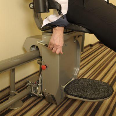 Fußbrett bei Sitztreppenlift